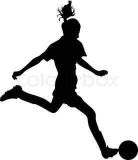 276x320 Woman Soccer Player Stock Vector Colourbox