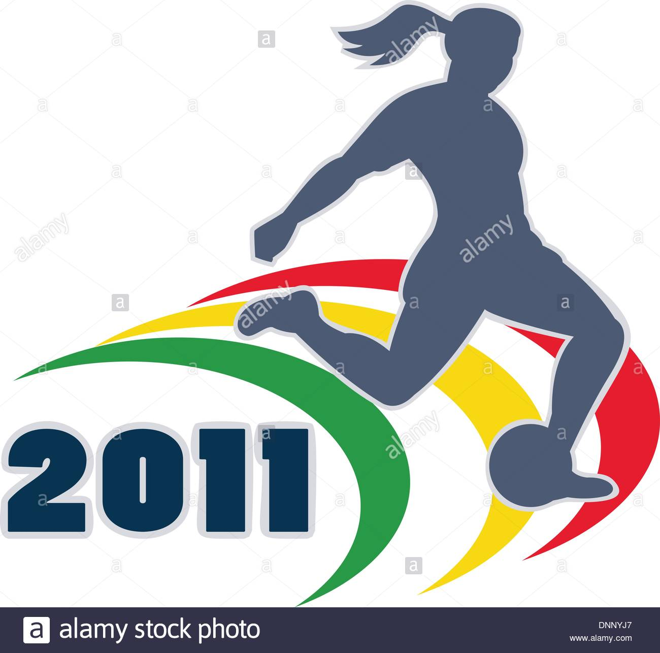 1300x1286 Illustration Of A Woman Soccer Player Silhouette Kicking The Ball