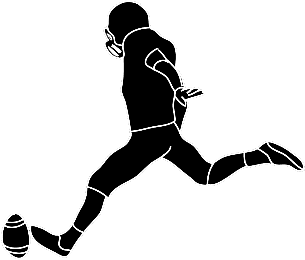 1000x852 Female American Football Player Clipart