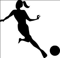 200x193 Female Footballer Cliparts