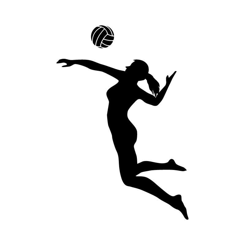 800x800 Female Volleyball Player Spiking Female Volleyball Players