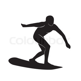 320x320 Surfer Male And Female Sport Activity Silhouettes. Good Use