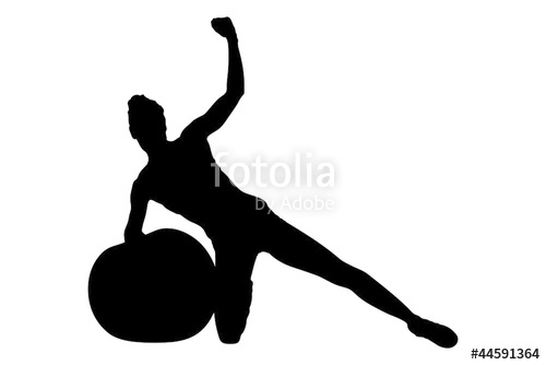 Female Volleyball Player Silhouette