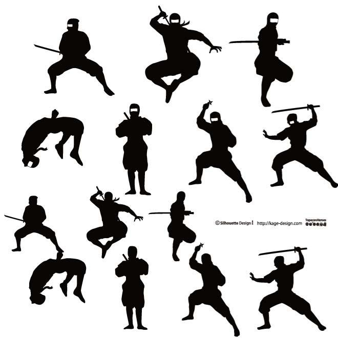 660x660 18 Warrior Silhouette Vector Images