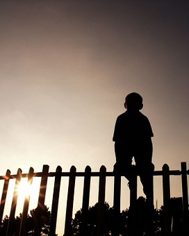 272x340 Free Photo Silhouette Fence Climbing Child Sun Person Boy