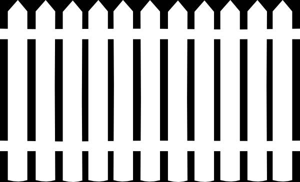 600x365 Picket Fence Silhouette Fence Clip Art At Clk 47501