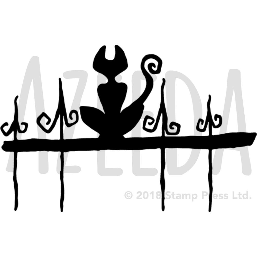 1000x1000 Cat On Fence Silhouette' Wall Stencils Templates (Vws0001737) Ebay