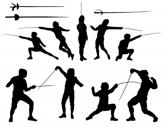 626x486 Fencing Silhouette Vectors, Photos And Psd Files Free Download