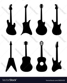 236x291 Guitar Silhouette Digital Clipart By Ssgarden On Etsy Party