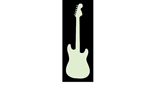 600x350 Custom Fender Stratocaster Guitar Silhouette Vinyl