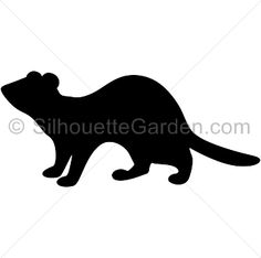 ferret silhouette at getdrawings com free for personal use ferret rh getdrawings com black footed ferret clipart ferret clipart black and white
