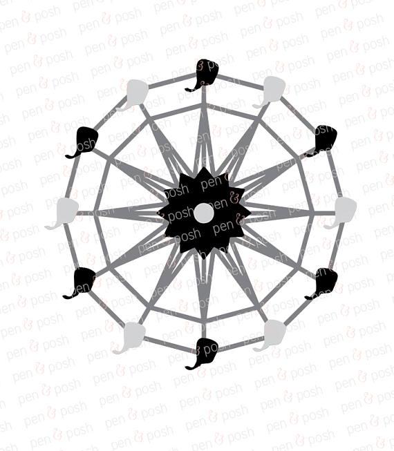570x653 Ferris Wheel Svg