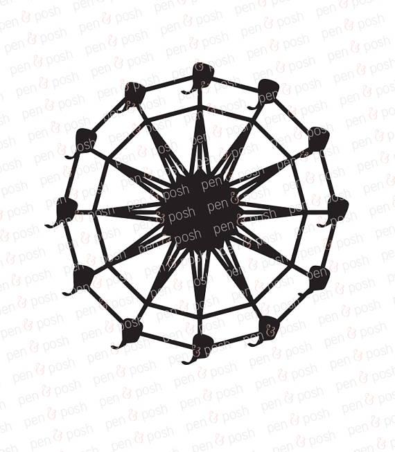 570x653 Ferris Wheel Svg Ferris Wheel Clip Art Ferris Wheel