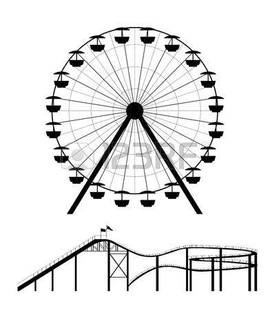 392x450 Ferris Wheel Clipart Roller Coaster