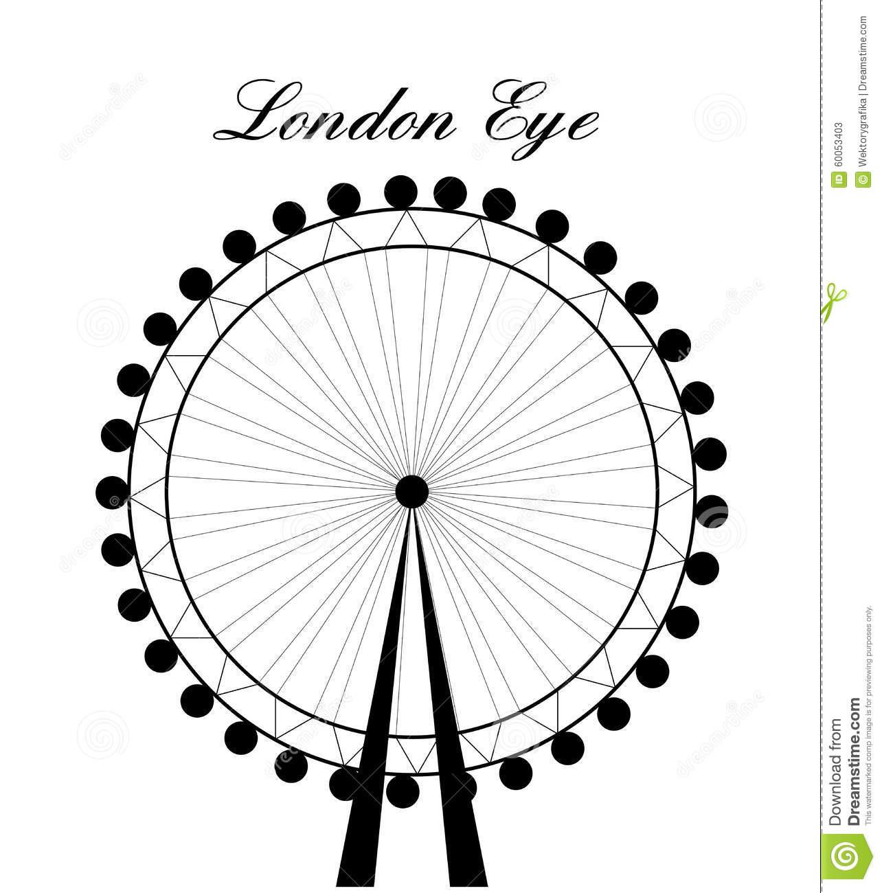 1284x1300 Drawn Ferris Wheel London Eye
