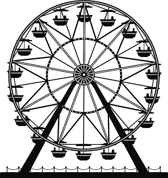 578x612 Ferris Wheel Clip Art Black And White Clipart Collection