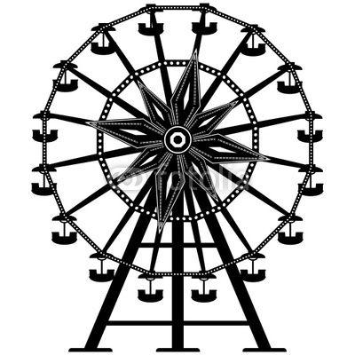 400x400 Photo Amusement Park Ride Ferris Wheel In Vector Silhouette Lhf