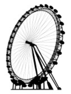 227x300 The London Eye Silhouette Free Images