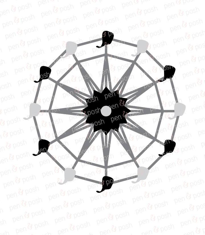 720x825 Ferris Wheel Svg