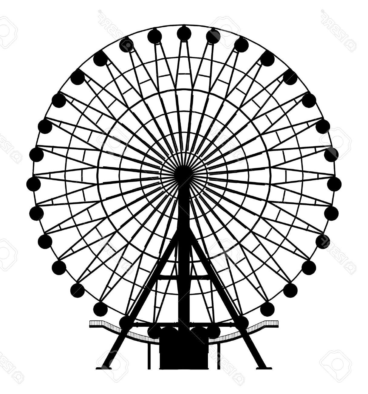 Ferris Wheel Silhouette Vector
