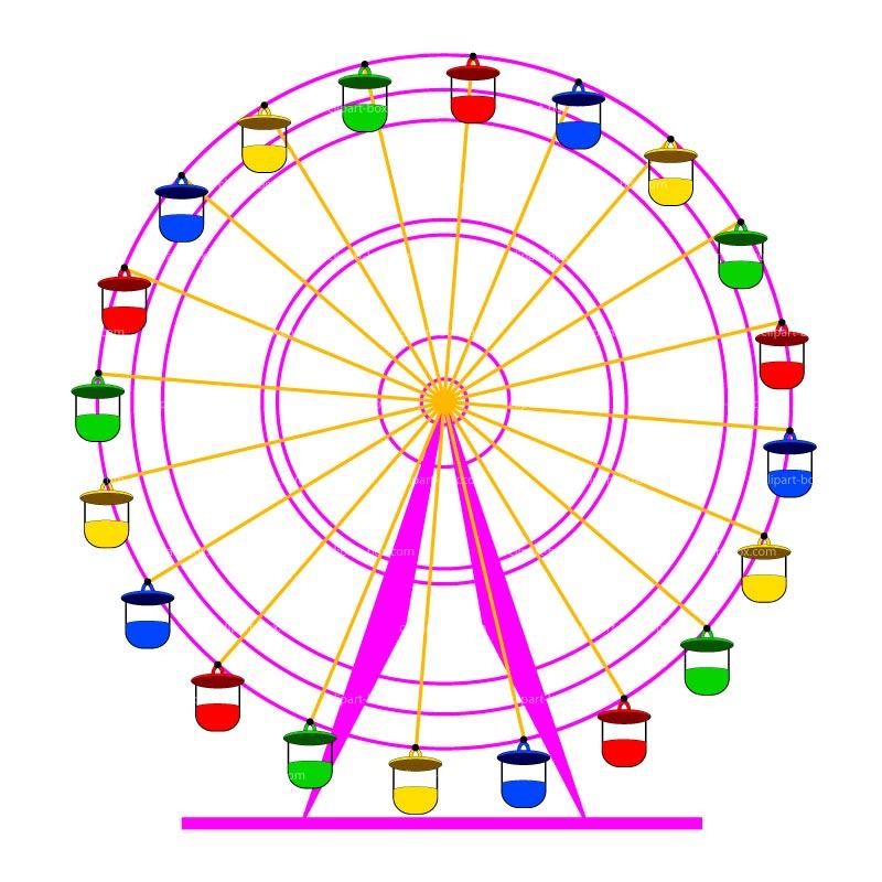 800x800 Ferris Wheel Clipart Funfair