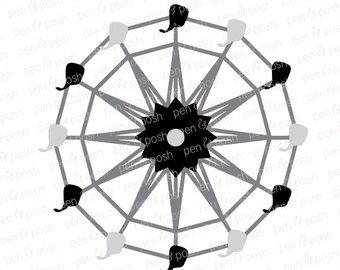 340x270 Ferris Wheel Clipart Etsy