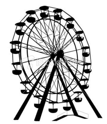 359x415 Simple Ferris Wheel Vector