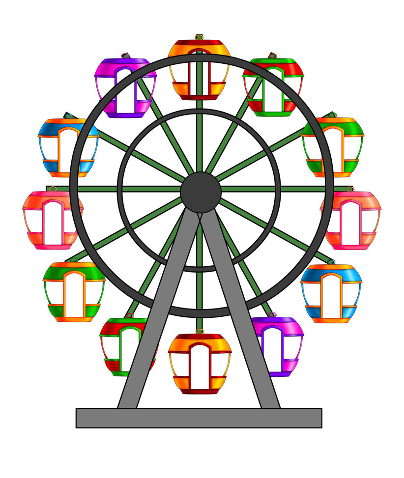 822x973 Cartoon Clipart Ferris Wheel