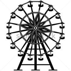 236x236 Cool Blackwork Ferris Wheel By Omniinks! Ferris Wheel Tattoo