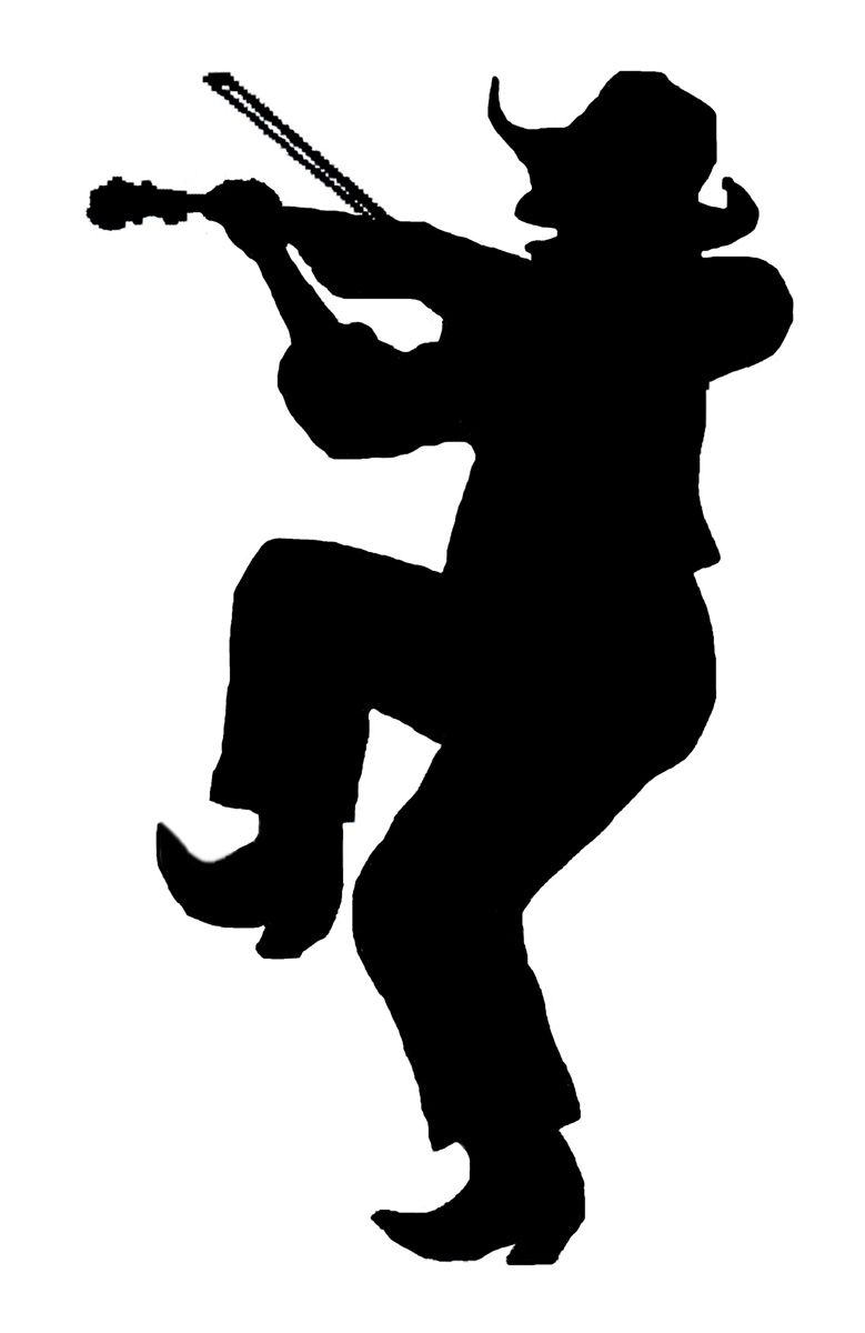 779x1200 Square Dance Fiddler Silhouette Square Dance
