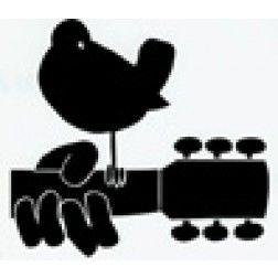 252x252 Bird On Guitar Silhouette Window Sticker Bethel Woods Museum