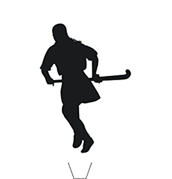 342x355 Novelty Field Hockey Silhouette 12 Edible Stand Up Wafer Paper