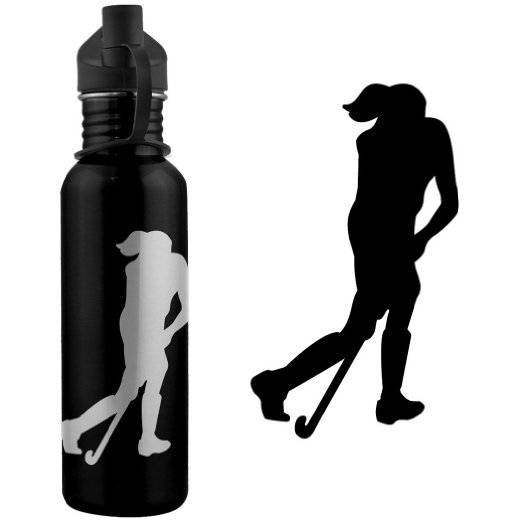 522x522 Buy Field Hockey Player Silhouette 24 Oz Stainless Steel Water