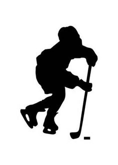 236x330 Silhouette Of A Hockey Goalie With Puck And Net All Separate