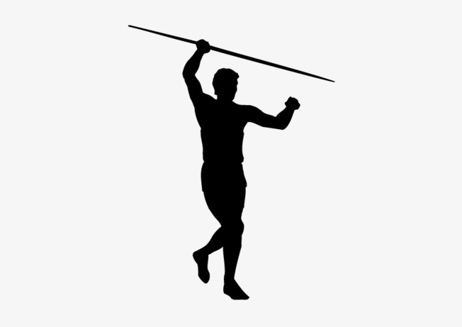 650x461 Fig Black Silhouette, Black, Man, Javelin Png And Vector For Free