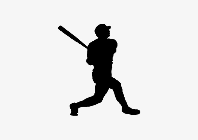 650x461 Fig Black Silhouette, Black, Sketch, Baseball Png And Vector