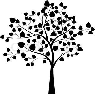 320x317 Vector Black Tree Stock Vector Colourbox