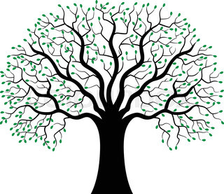 320x277 Vector Illustration Of Tree Silhouette Cartoon Stock Vector