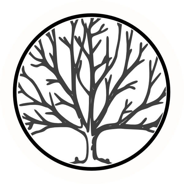 600x600 Bare Tree Circle Clip Art