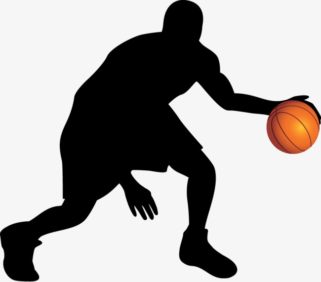 650x571 Basketball Silhouette Vector Material, Basketball, Movement