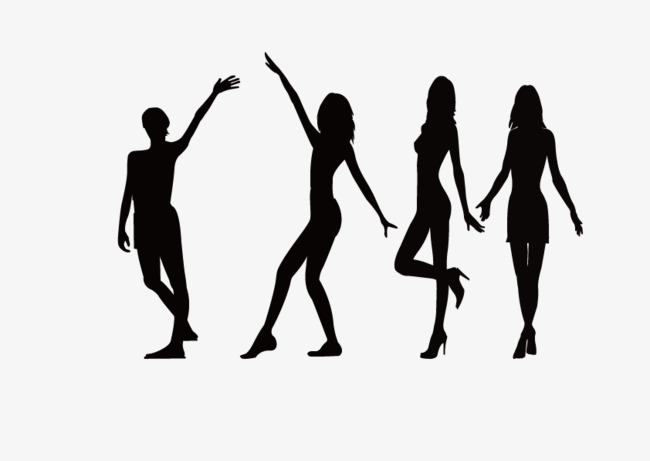 650x461 Black White Silhouette Fig., Sketch, Character, Beauty Png