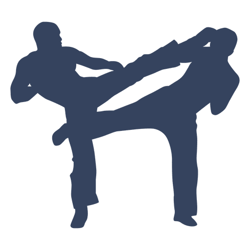512x512 Kickboxing Boxing Fight Silhouette