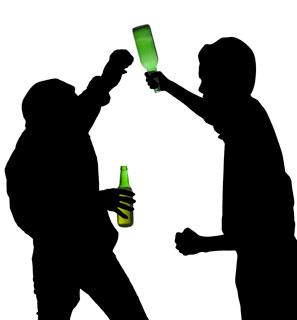 297x320 Silhouette Drunk Men Fights