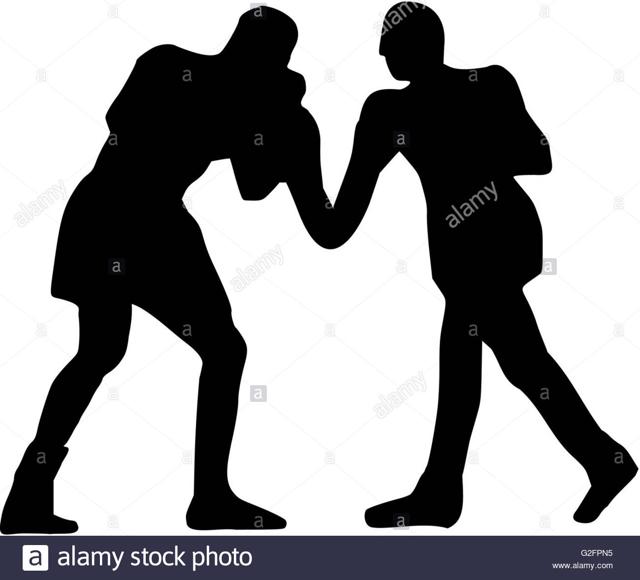 1300x1179 Boxing Fight Silhouette Stock Photo 104838641