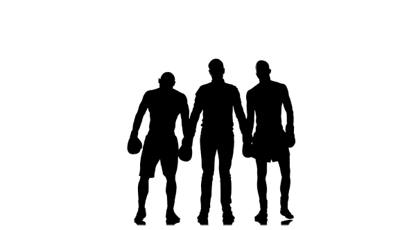 590x332 Boxing Referee Declares A Draw In A Fight. Silhouette By Kinomaster
