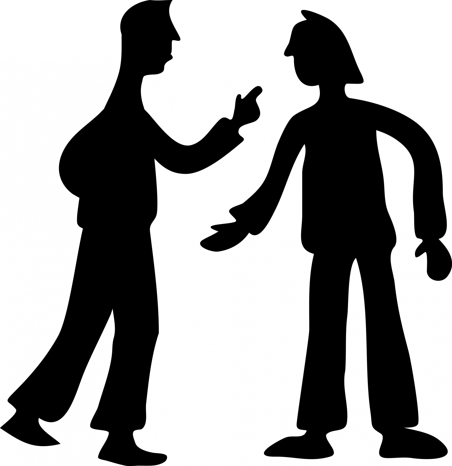 1864x1920 Conflict Silhouette Free Stock Photo