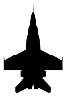 227x330 Fighter Jet Silhouette 6 Decal Sticker