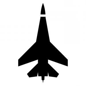 300x300 Vector Silhouette Fighter Jet F Flight Createmepink