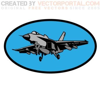 340x340 Fighter Plane Silhouettes Vector 123freevectors
