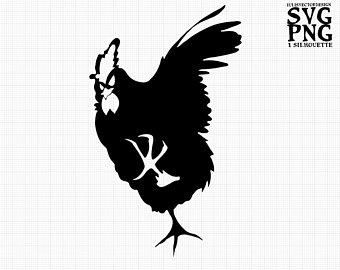 Fighting Rooster Silhouette
